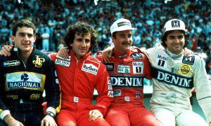 A group shot of F1's mighty titans