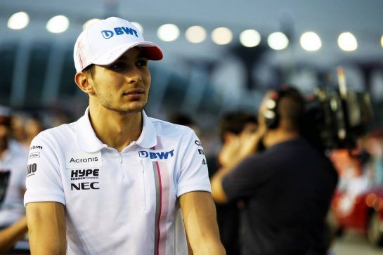 Esteban Ocon (FRA) Racing Point Force India F1 Team on the drivers parade. 16.09.2018. Formula 1 World Championship, Rd 15, Singapore Grand Prix, Marina Bay Street Circuit, Singapore, Race Day. - www.xpbimages.com, EMail: requests@xpbimages.com - copy of publication required for printed pictures. Every used picture is fee-liable. © Copyright: Batchelor / XPB Images