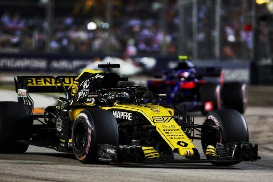 Nico Hulkenberg (GER) Renault Sport F1 Team RS18. 16.09.2018. Formula 1 World Championship, Rd 15, Singapore Grand Prix, Marina Bay Street Circuit, Singapore, Race Day. - www.xpbimages.com, EMail: requests@xpbimages.com - copy of publication required for printed pictures. Every used picture is fee-liable. © Copyright: Charniaux / XPB Images