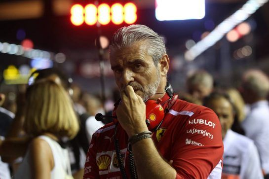 Maurizio Arrivabene (ITA) Ferrari Team Principal 16.09.2018. Formula 1 World Championship, Rd 15, Singapore Grand Prix, Marina Bay Street Circuit, Singapore, Race Day. - www.xpbimages.com, EMail: requests@xpbimages.com - copy of publication required for printed pictures. Every used picture is fee-liable. © Copyright: Batchelor / XPB Images