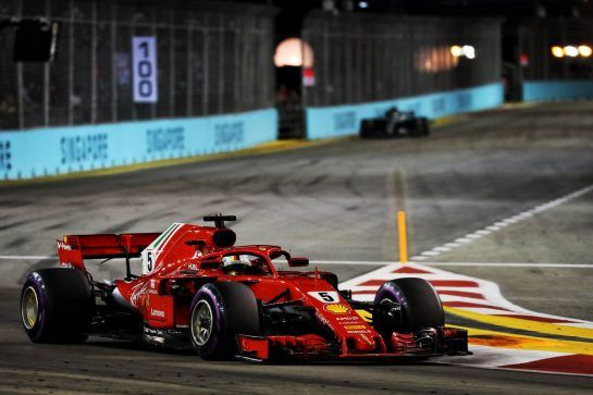 Sebastian Vettel (GER) Ferrari SF71H. 16.09.2018. Formula 1 World Championship, Rd 15, Singapore Grand Prix, Marina Bay Street Circuit, Singapore, Race Day. - www.xpbimages.com, EMail: requests@xpbimages.com - copy of publication required for printed pictures. Every used picture is fee-liable. © Copyright: Photo4 / XPB Images