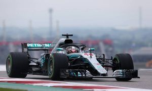 Hamilton remains on top in disrupted FP2 session