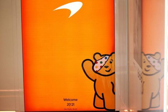 McLaren - supporting BBC Children in Need: Pudsey Bear. 08.11.2018. Formula 1 World Championship, Rd 20, Brazilian Grand Prix, Sao Paulo, Brazil, Preparation Day. - www.xpbimages.com, EMail: requests@xpbimages.com - copy of publication required for printed pictures. Every used picture is fee-liable. © Copyright: Batchelor / XPB Images