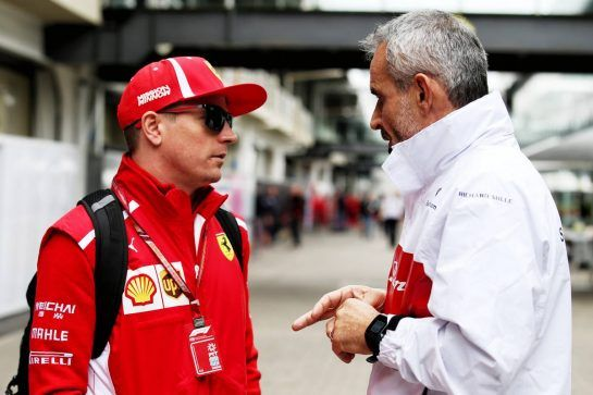 (L to R): Kimi Raikkonen (FIN) Ferrari with Beat Zehnder (SUI) Sauber F1 Team Manager. 08.11.2018. Formula 1 World Championship, Rd 20, Brazilian Grand Prix, Sao Paulo, Brazil, Preparation Day. - www.xpbimages.com, EMail: requests@xpbimages.com - copy of publication required for printed pictures. Every used picture is fee-liable. © Copyright: Batchelor / XPB Images