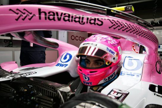 Esteban Ocon (FRA) Racing Point Force India F1 VJM11 - Havaianas. 08.11.2018. Formula 1 World Championship, Rd 20, Brazilian Grand Prix, Sao Paulo, Brazil, Preparation Day. - www.xpbimages.com, EMail: requests@xpbimages.com - copy of publication required for printed pictures. Every used picture is fee-liable. © Copyright: Moy / XPB Images