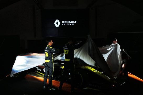 Daniel Ricciardo (AUS) Renault Sport F1 Team and Nico Hulkenberg (GER) Renault Sport F1 Team unveil the Renault Sport F1 Team RS19. 12.02.2019. Renault Sport F1 Team RS19 Launch, Enstone England. Tuesday. - www.xpbimages.com, EMail: requests@xpbimages.com - copy of publication required for printed pictures. Every used picture is fee-liable. © Copyright: Batchelor / XPB Images