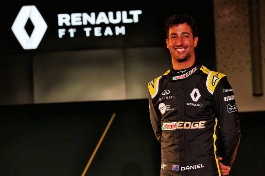 Daniel Ricciardo (AUS) Renault Sport F1 Team. 12.02.2019. Renault Sport F1 Team RS19 Launch, Enstone England. Tuesday. - www.xpbimages.com, EMail: requests@xpbimages.com - copy of publication required for printed pictures. Every used picture is fee-liable. © Copyright: Batchelor / XPB Images