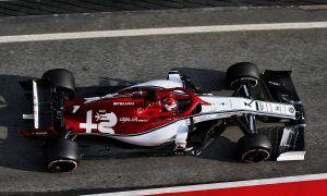 Raikkonen wary despite strong test so far for Alfa Romeo