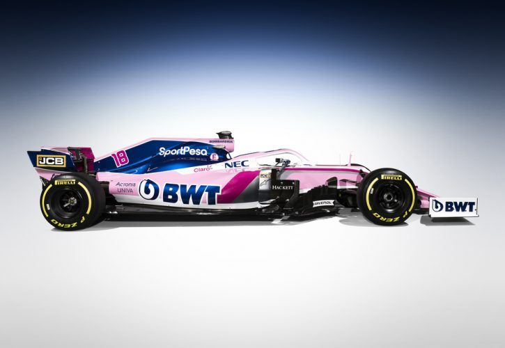 Racing Point reveals tweaked livery for 2019