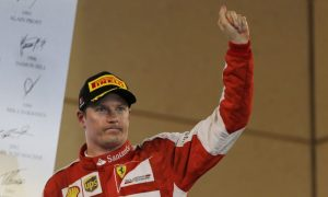 First podium for Kimi since 2013