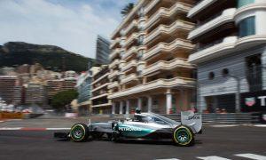Hamilton tops rain-interrupted FP2 in Monaco
