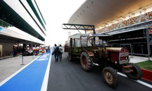 We have a slow vehicle in the pit lane!