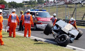 Perez walks away from big crash in Hungary