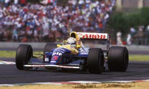 Nigel Mansell gets Mexican Grand Prix corner
