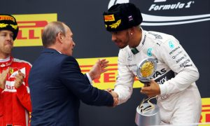I did not spray Putin on Sochi podium – Hamilton