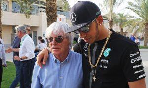 Hamilton in top five F1 champions - Ecclestone