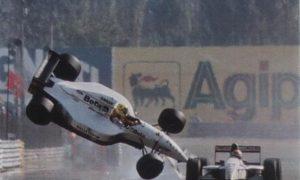 Fittipaldi's scary backward somersault