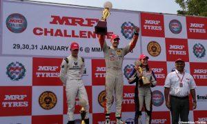 Mick Schumacher claims second podium in MRF weekend