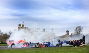 VIDEO: An F1 car against a rugby scrum