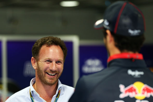 Christian Horner (GBR) Red Bull Racing Team Principal with Daniel Ricciardo (AUS) Red Bull Racing.