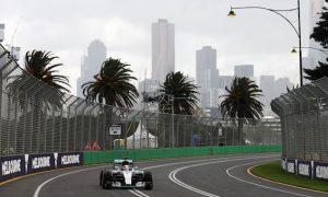 Hamilton leads Kvyat in rain-hit FP1 in Melbourne