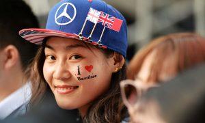 An avid fan in Shanghai