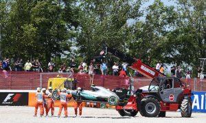 Hamilton and Rosberg collide at start of Spanish GP