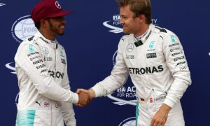 Hamilton and Rosberg rekindle friendly relationship poolside