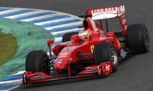 Bianchi's first Ferrari test