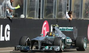 Hamilton's first Mercedes win