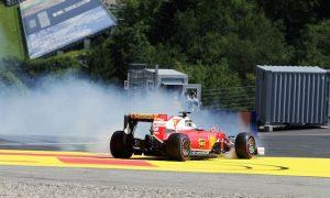 Brake distribution issue caused Vettel spin