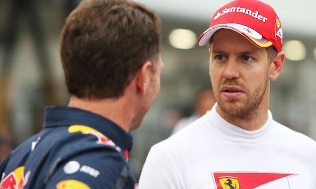 Sebastian Vettel, Ferrari, Christian Horner, Red Bull