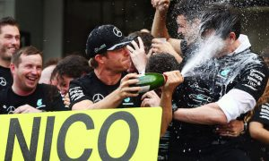 Champagne-soaked champions