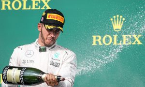 Hamilton celebrates landmark 50th GP win