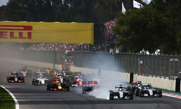 Lewis Hamilton, Mercedes, Mexico Grand Prix, start