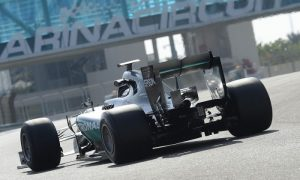 Hamilton back in action in Abu Dhabi tyre test