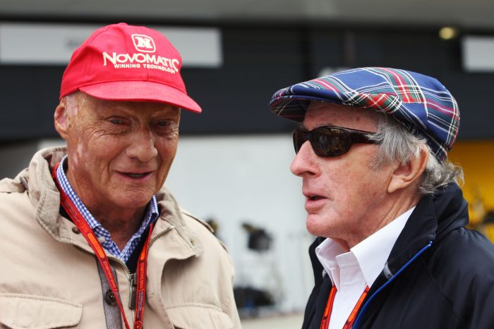 Niki Lauda and Sir Jackie Stewart