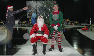 WATCH: Santa Ricciardo and Elf Verstappen