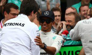 Hamilton and Wolff enjoy 'amazing meeting'