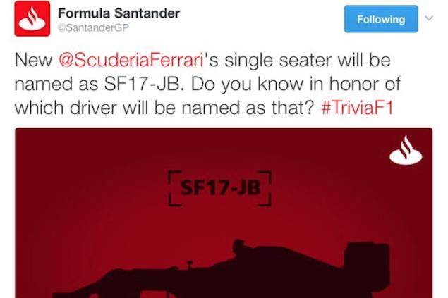 Ferrari denies sponsor leaked name of 2017 F1 car