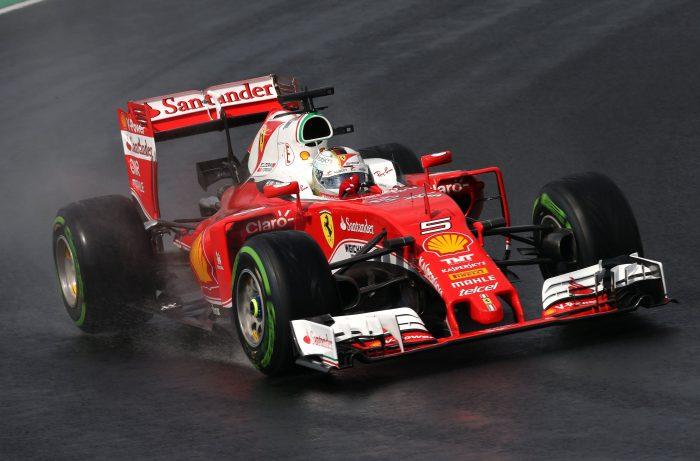 Teams get wet weather test in Barcelona
