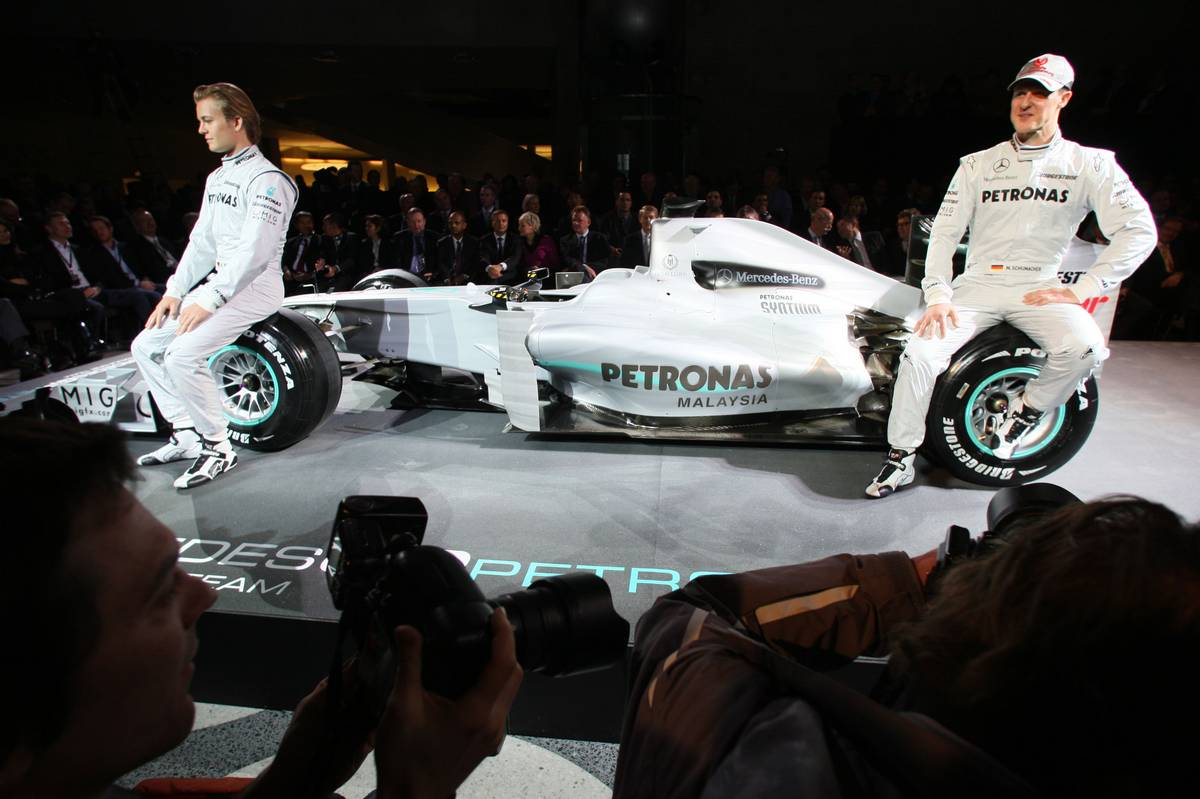 GALLERY: The Mercedes W01 was launched seven years ago today