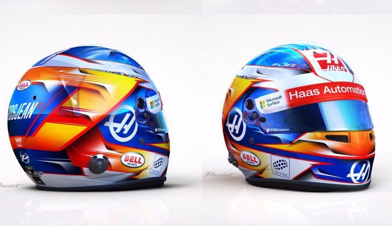 Grosjean's bright new lid