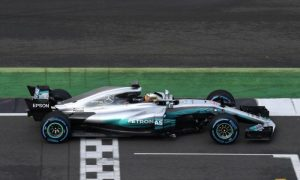 First shots of Mercedes new W08!