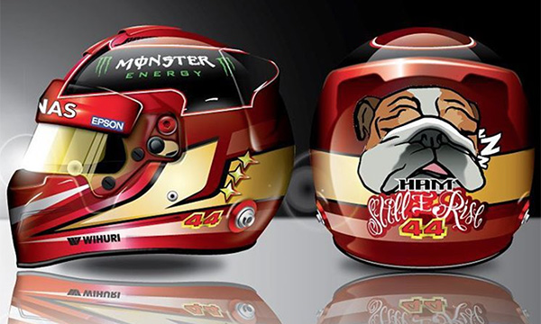Gallery:  a selection of Lewis Hamilton helmet designs
