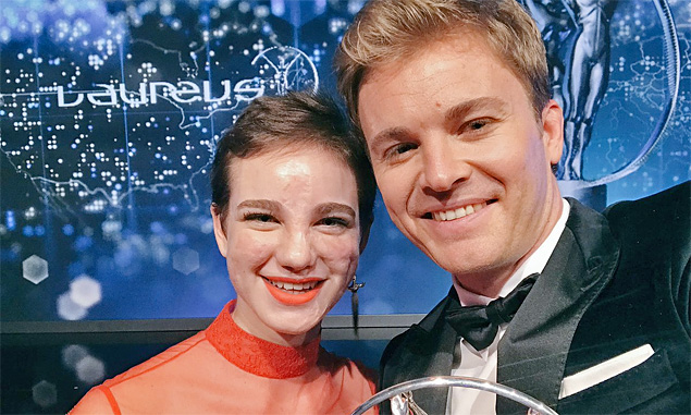 Rosberg celebrates Laureus win with Beatrice Vio