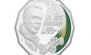 Australia mints a coin honoring Sir Jack Brabham