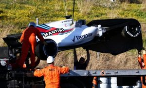 Stroll crash puts final day of testing in jeopardy for Williams
