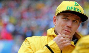 Renault's Hulkenberg in the penalty box!