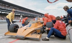 Rutherford and McLaren's first win at the Brickyard